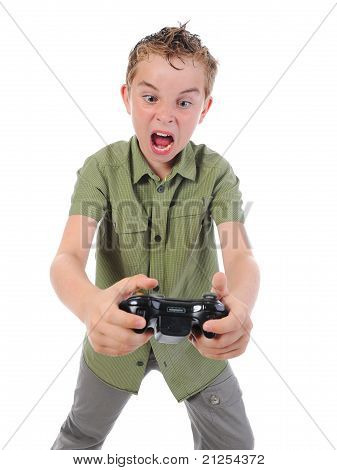 funny boy with a joystick