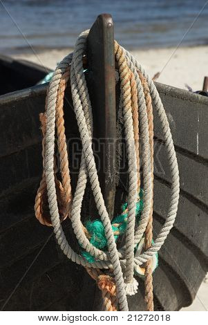 Ropes on a boat