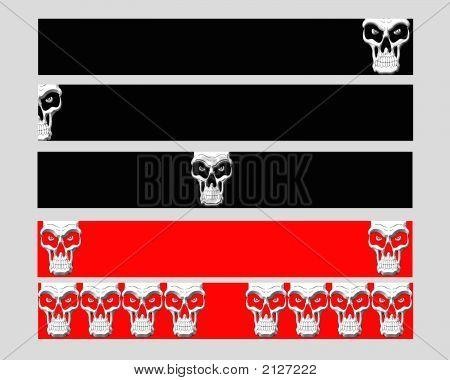 5 Banners Skull Set