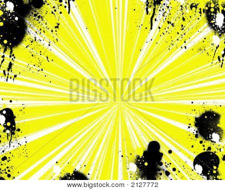 Yellow With Splatters 1