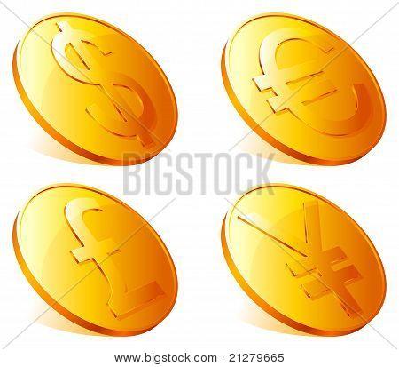 Golden coins.