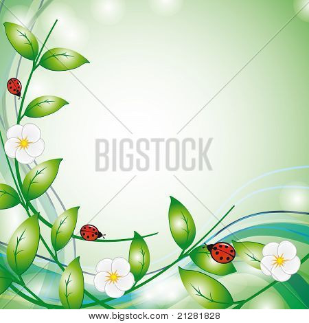 Flowers And Ladybirds