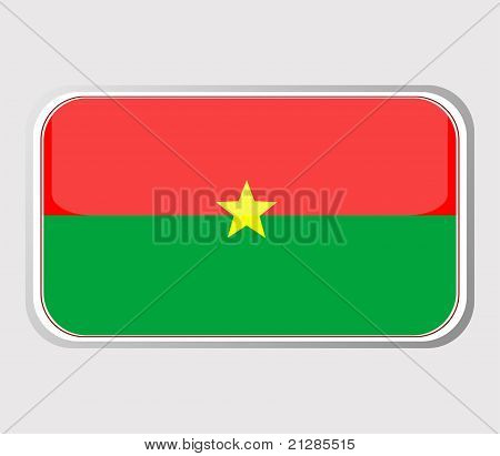 Flag Of Burkina Faso In The Form. Vector