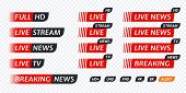 Live Stream Tv News Tag Icon. Video Symbol Live Broadcasting poster