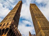 Due Torri (two Towers) In Bologna (hdr) poster