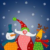 image of christmas cards  - Cartoon characters - JPG