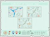 Collection Of Maps Treasure Map Baby Map Illustration Of The Winter Maps To Find Treasure Treasure M poster