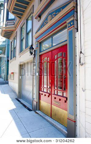 Red Double Doors