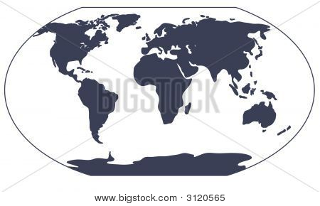 World Map Silhouette.Eps