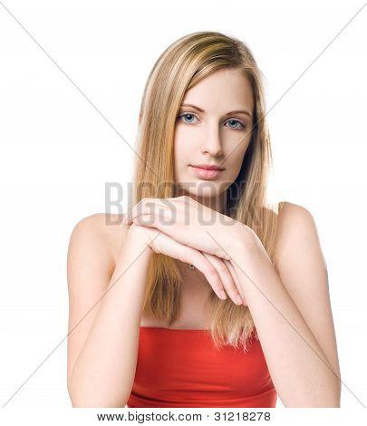 Confident Blond Beauty.