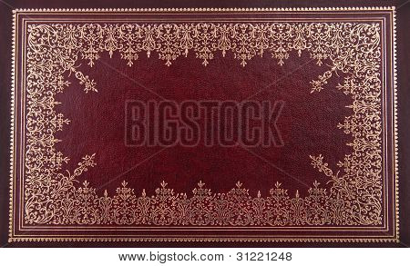 old ancient book cover with ornaments