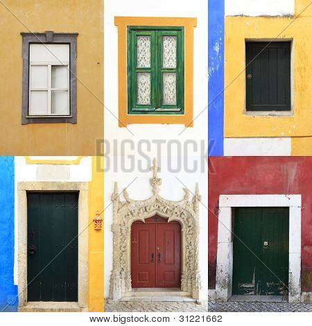 Windows Doors Colorful Portugal Traditional Collection