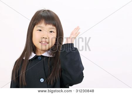 Little asian schoolgirl