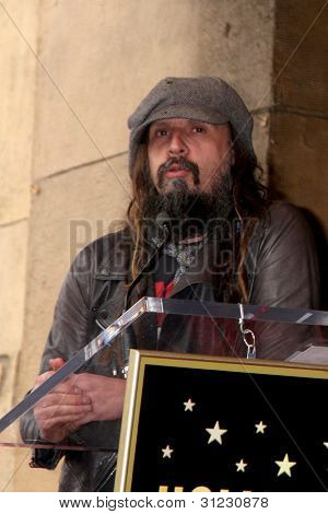 LOS ANGELES - MAR 16:  Rob Zombie at the Malcolm McDowell Walk of Fame Star Ceremony for The Muppets at the Hollywood Boulevard on March 16, 2012 in Los Angeles, CA