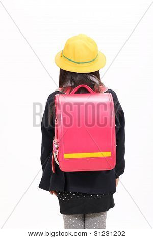 Little asian schoolgirl