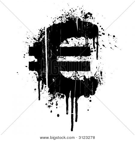 Euro Splatter Design Element