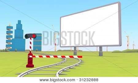 Barrier, Blank Billboard