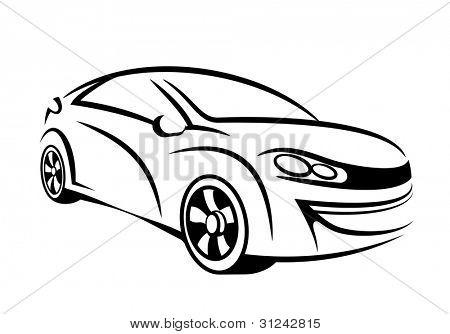 Auto Linie Kunst