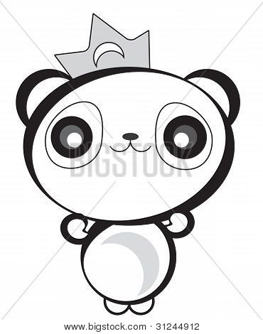 Cute Happy Panda Bear