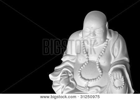 Laughing Buddha Isolated On Black