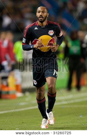 CARSON, CA. - MAY 7: New York Red Bulls F Thierry Henry #14 during the MLS game between the New York Red Bulls & the Los Angeles Galaxy on May 7 2011 at the Home Depot Center in Carson, CA.