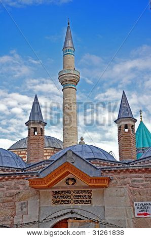 Konya Turkey October 29: Mausoleum Complex of Rumi on October 29, 2010 in Konya Turkey