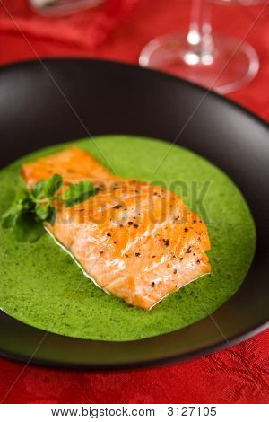 Salmon With Watercress Sauce