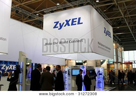Stand Of Zyxel In Cebit Computer Expo