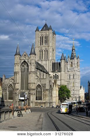Reconstruction of Sint-Niklaaskerk in Ghent City