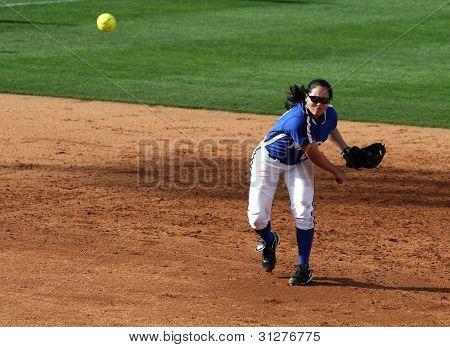 College Softball Shortstop