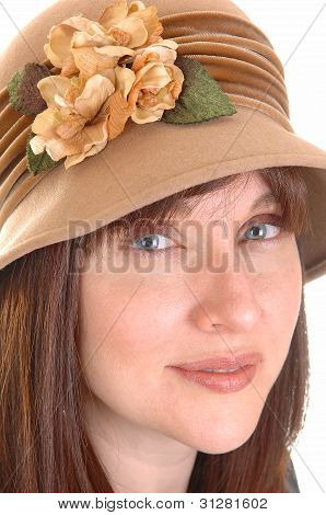 Lovely Lady With Hat.