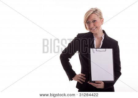 Secretary With A Notepad