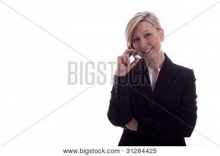 Secretary On The Phone Has Satisfied