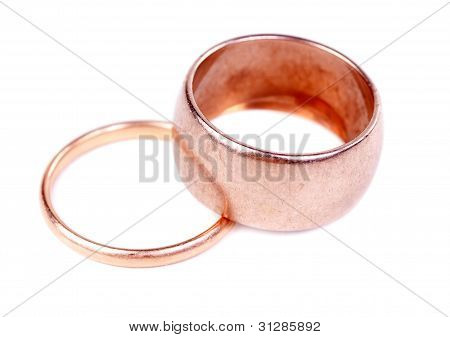Two Old Gold Wedding Ring