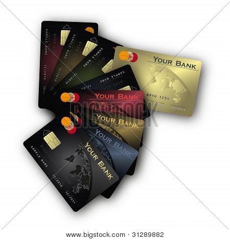 Credit Card Fan Vertical