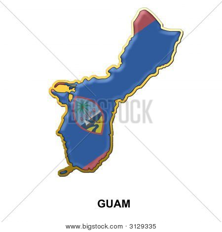 Guam Metal Pin Badge