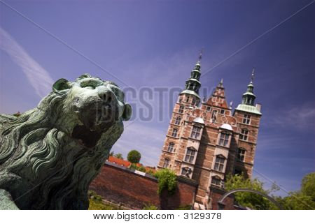 Lion In Front Of Royal Rosenborg Castle