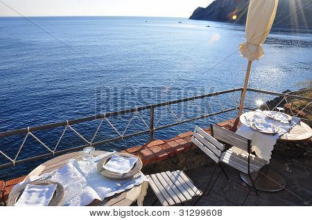 Meal At Monterosso Cinque Terre Italy