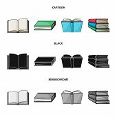 Vector Design Of Library And Textbook Logo. Collection Of Library And School Vector Icon For Stock. poster