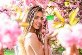 Luxury Cosmetic. Haircare, Scincare, Beauty Concept. Woman With Organic Cosmetic. Sexy Girl With Sha poster