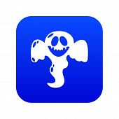 Ghost Scaring Icon. Simple Illustration Of Ghost Scaring Vector Icon For Web poster