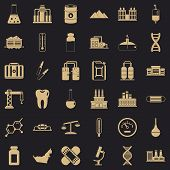 Chemical Plant Icons Set. Simple Style Of 36 Chemical Plant Icons For Web For Any Design poster