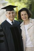 picture of early 60s  - Senior Graduate and Wife - JPG