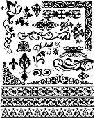 picture of scroll design  - set of beauty vector floral design elements - JPG
