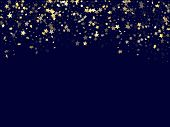 Gold Falling Star Sparkle Elements Of Glitter Gradient Vector Background. Modern Confetti Gold Stars poster