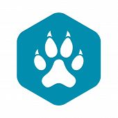 Cat Paw Icon. Simple Illustration Of Cat Paw Icon For Web Design poster
