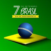 Happy Brazil Independence Day Graphic Design - Vector poster