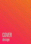 Cool Cover Template Set. Minimal Trendy Vector With Halftone Gradients. Geometric Cool Cover Templat poster
