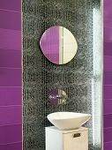 pic of lavabo  - Contemporary bathroom design with broken mirror wall - JPG