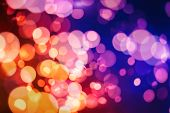 Sparkle Background De-focused Bokeh Abstract Christmas Copy Space Shimmering Blue Spotlights Defocus poster
